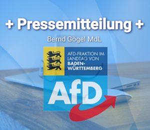 """Bernd Gögel MdL: """"Maulkorb für die AfD – nicht mit uns!"""""""