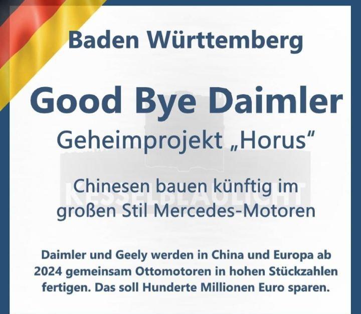 """Good Bye Daimler – Geheimprojekt """"Horus"""""""