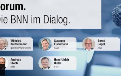 Ankündigung: Am 27.02.2021 um 18:30 Uhr findet die Podiumsdiskussion der BNN im ZKM in Karlsruhe statt.