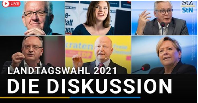 Ankündigung: Heute um 19:00 Uhr findet die Podiumsdiskussion der Stuttgarter Nachrichten im Haus der Wirtschaft statt.