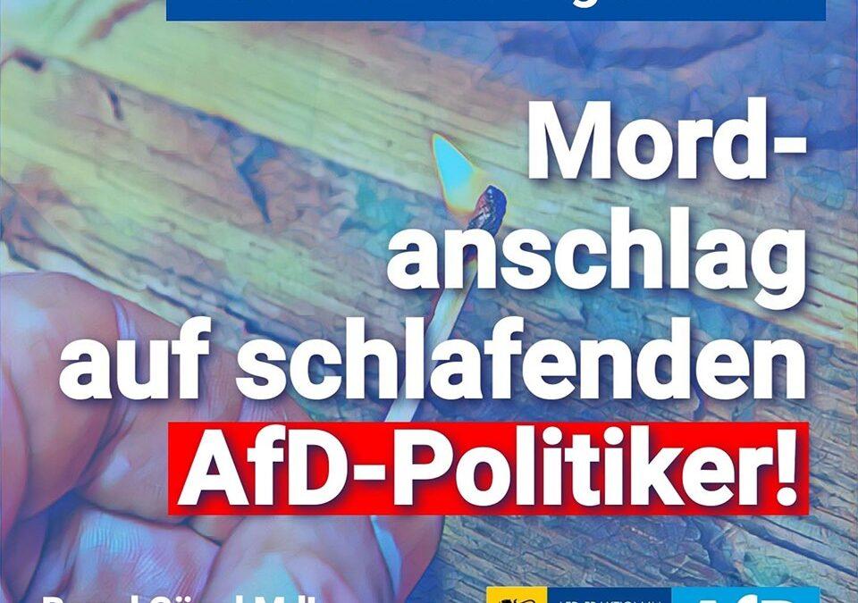 Gartenlaube angezündet – Mordanschlag auf schlafenden AfD-Politiker