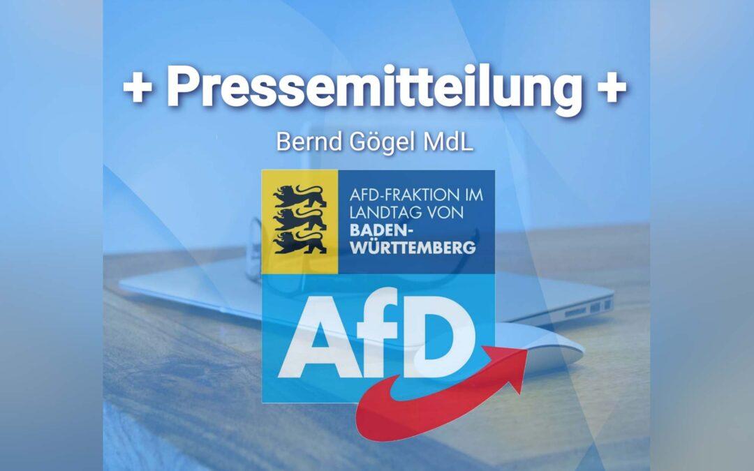Bernd Gögel MdL: AfD-Fraktion erstattet Anzeige wegen Volksverhetzung