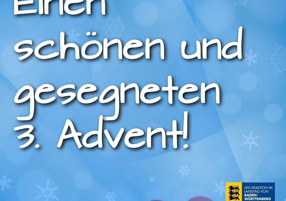 Einen schönen und gesegneten 3. Advent