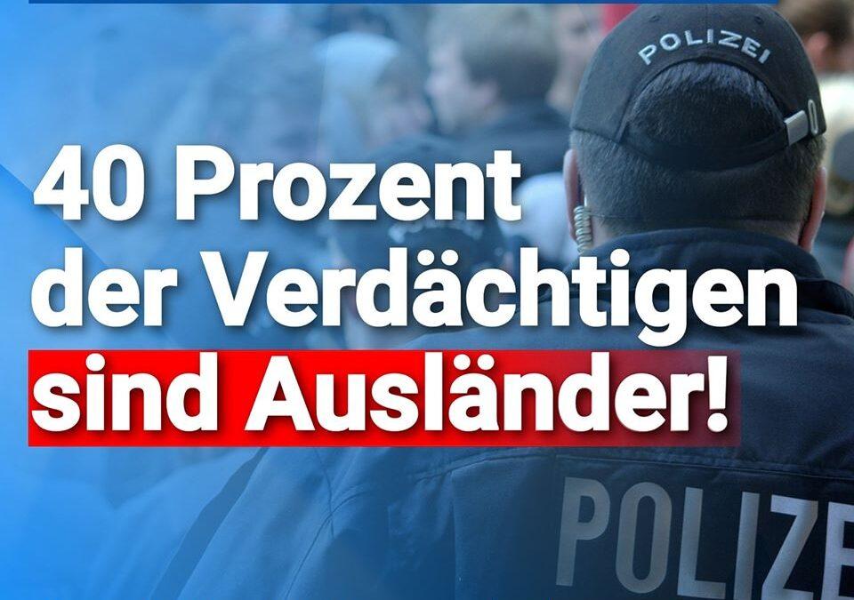 Gewalt gegen unsere Polizisten: 40 Prozent der Tatverdächtigen sind Auslände
