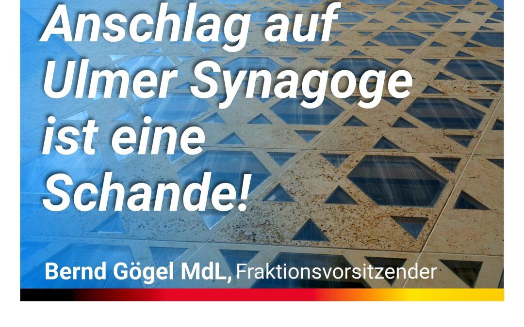 Debatte im Landtag – Anschlag auf Ulmer Synagoge ist eine Schande