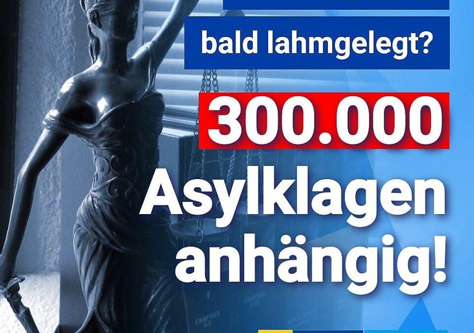 Rechtssystem bald lahmgelegt? 300.000 Asylklagen anhängig