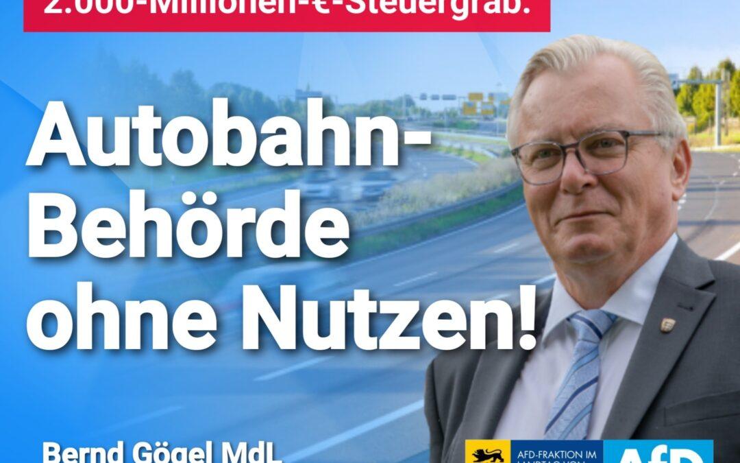 Scheuers nächstes 2.000-Millionen-€-Steuergrab: Autobahn-Behörde ohne Nutzen