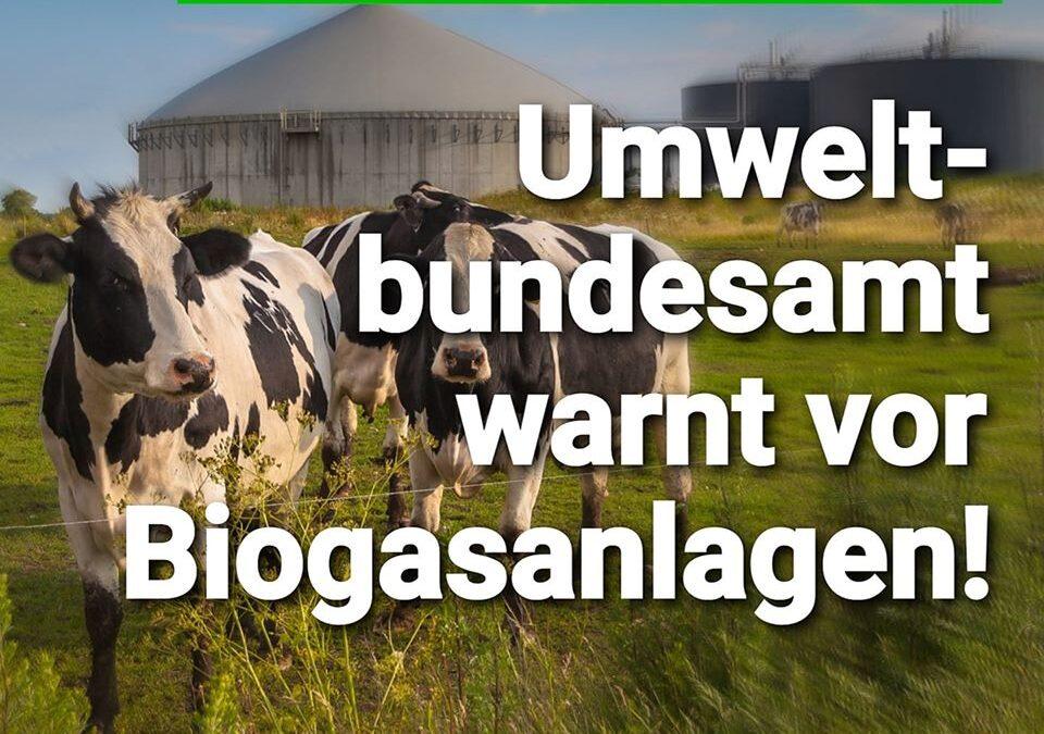 Grün kann tödlich sein: Umweltbundesamt warnt vor Biogasanlagen
