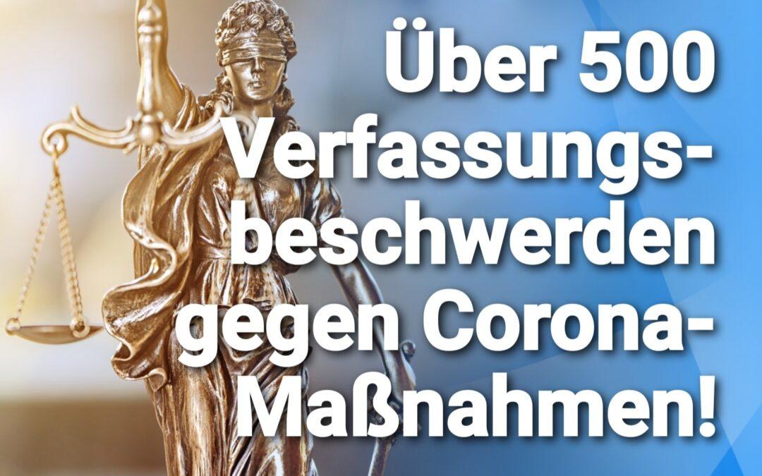 Bundesverfassungsgericht – Über 500 Verfassungsbeschwerden gegen Corona-Maßnahmen