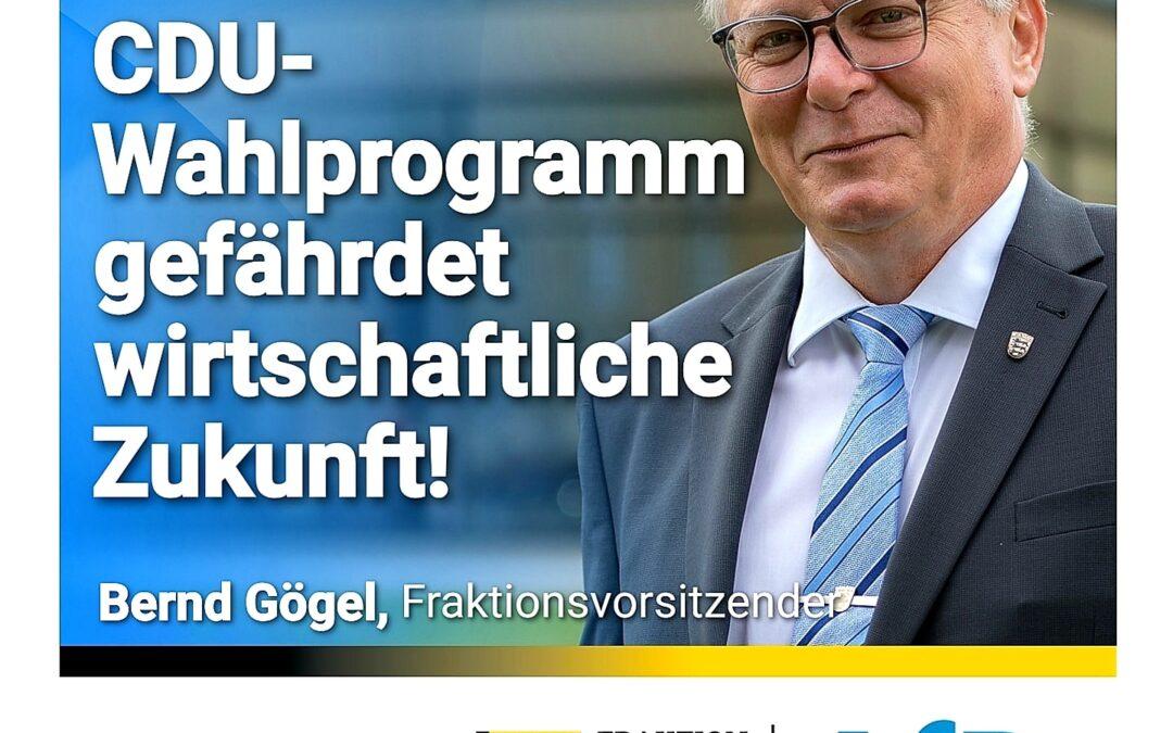 Grüne Forderungen – CDU-Wahlprogramm gefährdet wirtschaftliche Zukunft