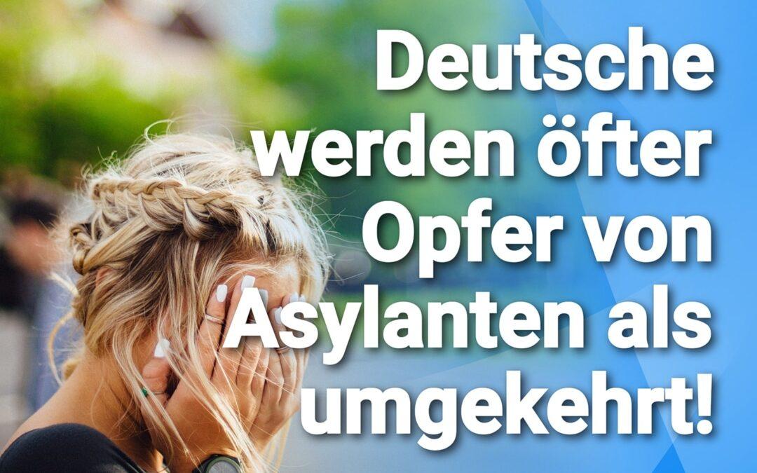 Nicht überraschend – Deutsche werden öfter Opfer von Asylanten als umgekehrt