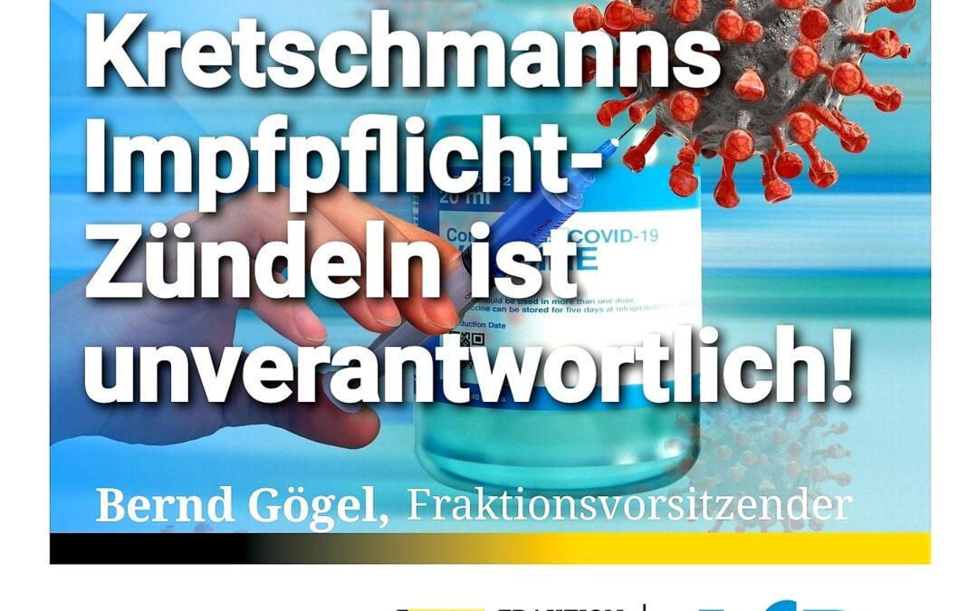 Für Entscheidungsfreiheit! Kretschmanns Impfpflicht-Zündeln ist unverantwortlich