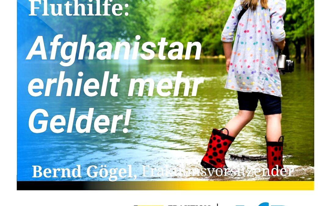 Viel ist es nicht – Fluthilfe: Afghanistan erhielt mehr Gelder