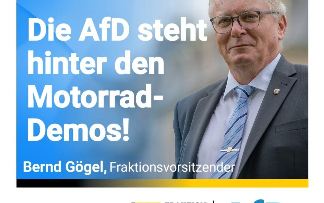 Gegen Fahrverbote – Die AfD steht hinter den Motorrad-Demos!