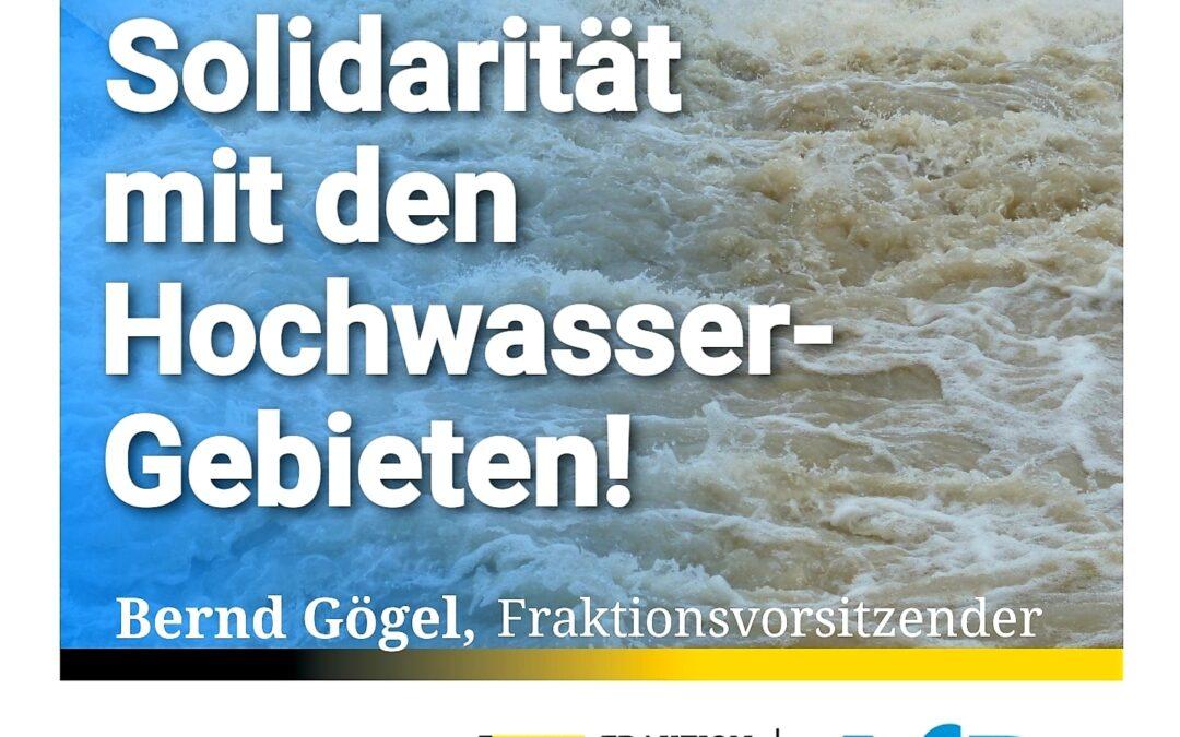 Fast 60 Tote – Solidarität mit den Hochwasser-Gebieten