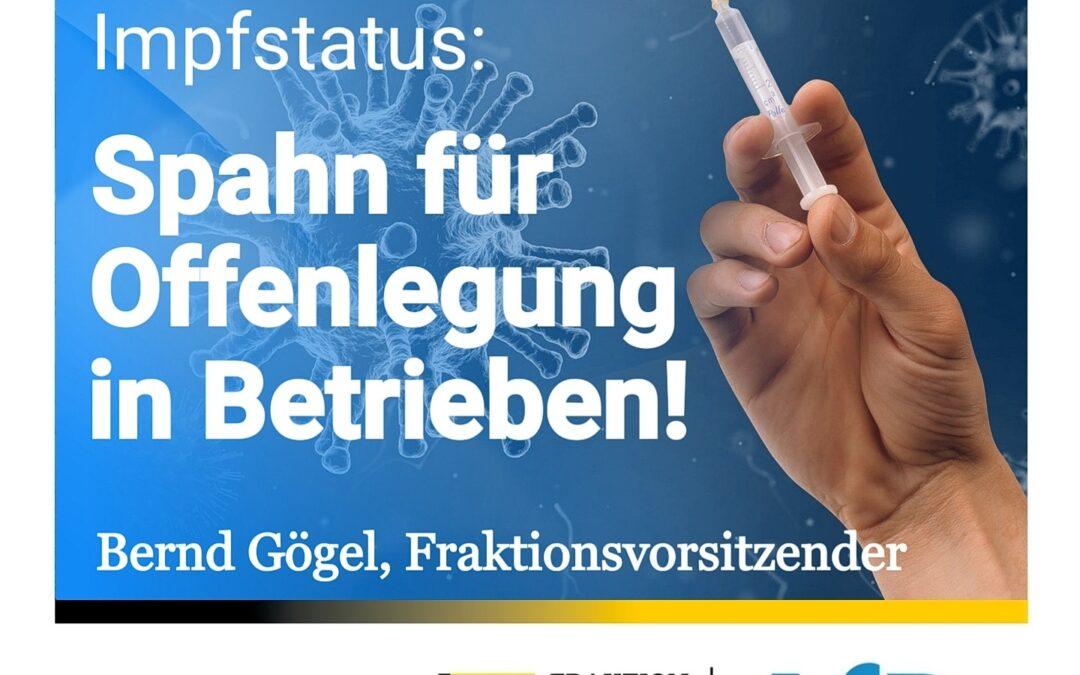 Pflichtangabe für Mitarbeiter – Impfstatus: Spahn erwägt Offenlegung in Betrieben