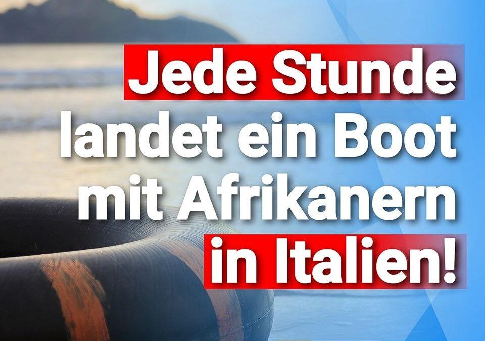 Läuft alles nach Plan: Stündlich landet ein Boot mit Afrikanern in Italien