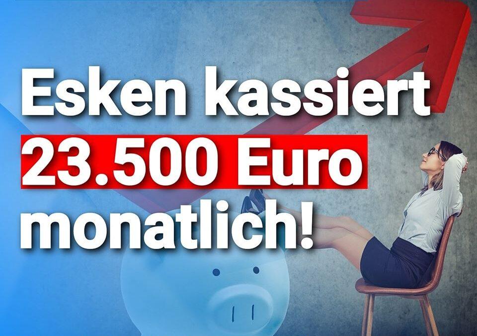 """Links reden, """"rechts"""" leben: SPD-Chefin Saskia Esken kassiert fast soviel wie Kanzlerin Angela Merkel (CDU)"""