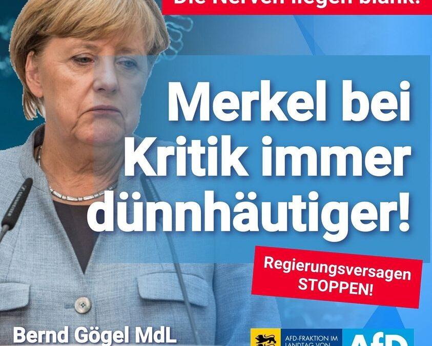 Die Nerven liegen blank: Merkel bei Kritik immer dünnhäutiger!
