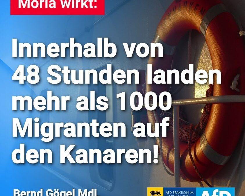 Moria wirkt: Innerhalb von 48 Stunden landen mehr als 1000 Migranten auf den Kanaren