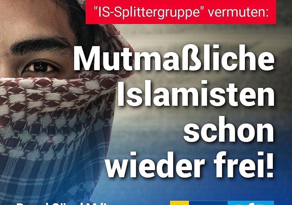 """Obwohl Ermittler """"IS-Splittergruppe"""" vermuten: Mutmaßliche Islamisten schon wieder frei"""