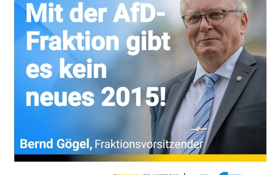 Ortskräfte in Nachbarländer – Mit der AfD-Fraktion gibt es kein neues 2015!