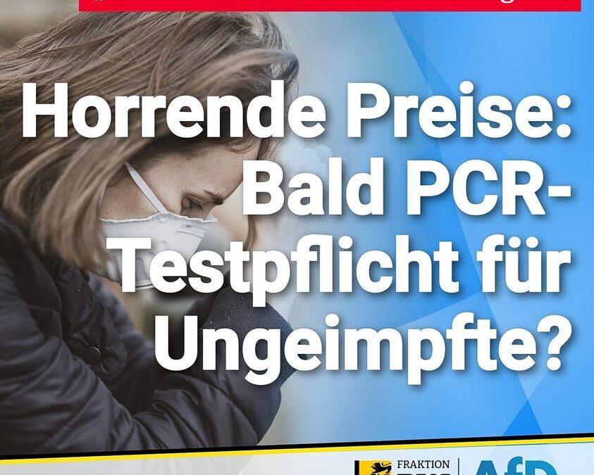 """""""Warnstufe"""" ab November möglich – Horrende Preise: Bald PCR-Testpflicht für Ungeimpfte?"""