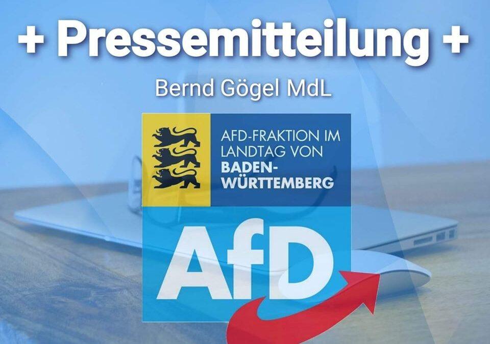 Bernd Gögel MdL: Haushaltsvorschläge sind Vergewaltigung der nachfolgenden Generationen