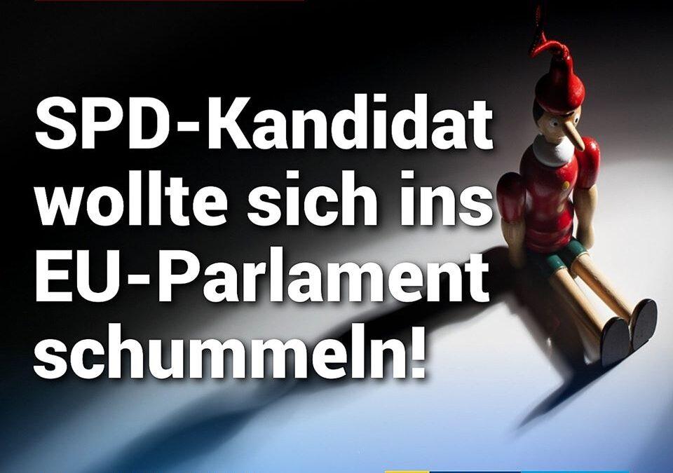Erlogene Vita: SPD-Kandidat wollte sich ins EU-Parlament schummeln