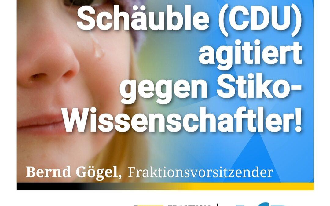 Kinderimpfung – Schäuble (CDU) agitiert gegen Stiko-Wissenschaftler
