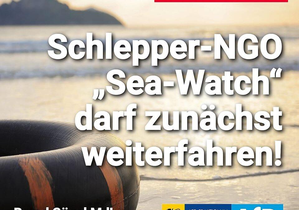 """Gerichtsurteil: Schlepper-NGO """"Sea-Watch"""" darf zunächst weiterfahren"""