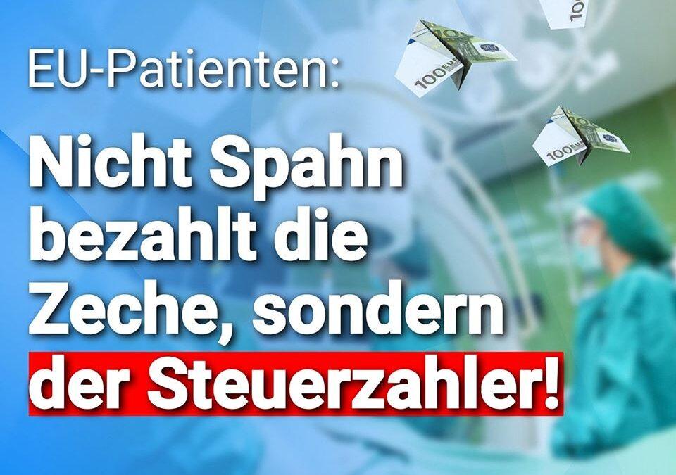 """,,Corona-Spendierhosen"""" EU-Patienten: Nicht Spahn bezahlt die Zeche, sondern der Steuerzahler"""