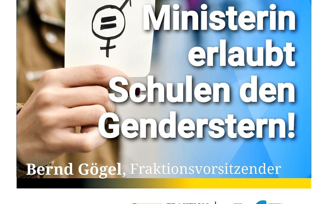 Sprachverunstaltung – Ministerin erlaubt Schulen den Genderstern