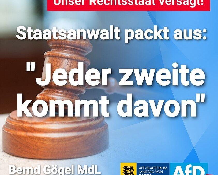 """Unser Rechtsstaat versagt – Staatsanwalt packt aus: """"Jeder zweite kommt davon"""""""