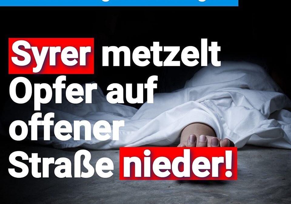 Brutaler Angriff in Stuttgart – Syrer metzelt Opfer auf offener Straße nieder