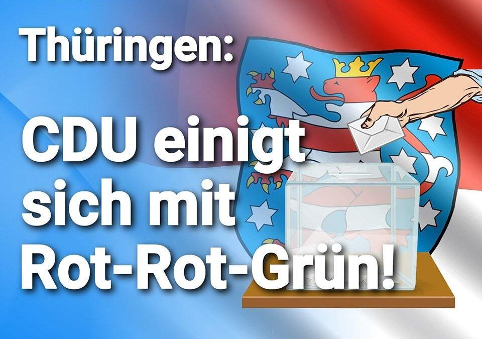 Trotz Abgrenzungsbeschluß – Thüringen: CDU einigt sich mit Rot-Rot-Grün