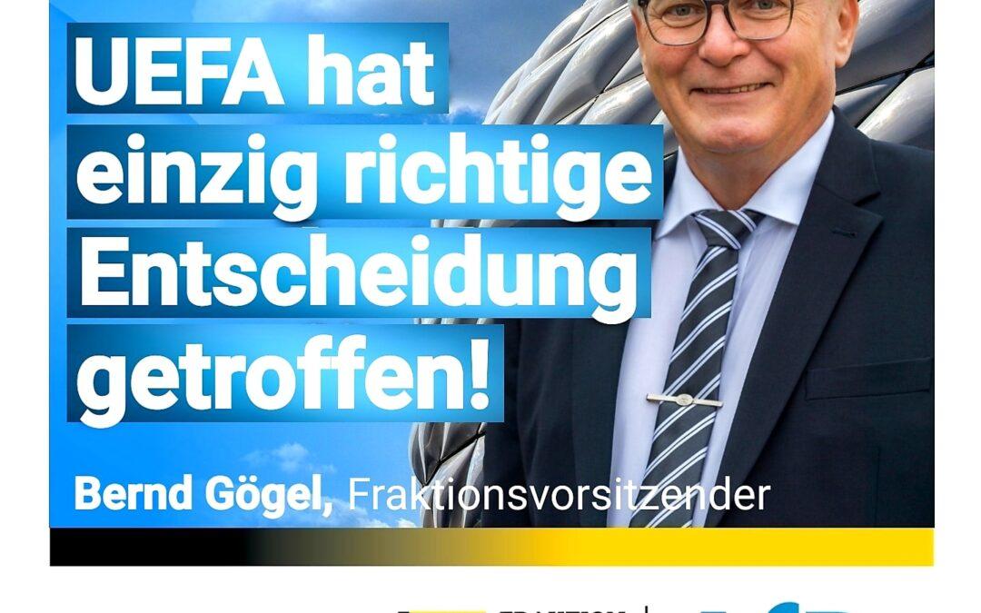 Münchner Allianz-Arena – UEFA hat einzig richtige Entscheidung getroffen