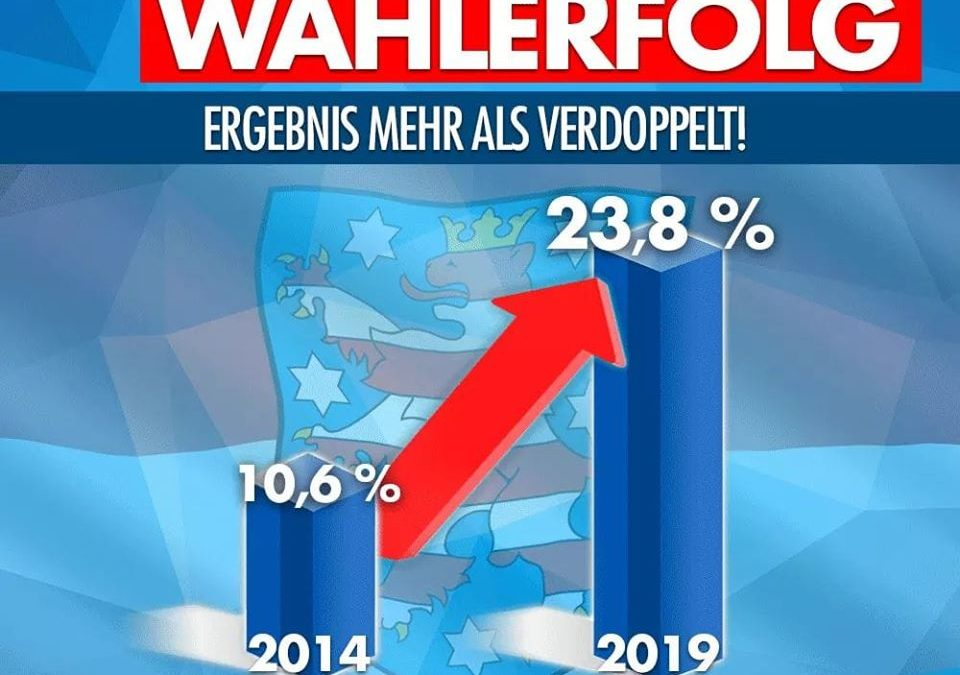 AfD-Fraktionsvorsitzender Bernd Gögel beglückwünscht die Parteifreunde in Thüringen zu ihrem hervorragenden Wahlergebnis – Unverständnis für Resultate der Poststalinisten