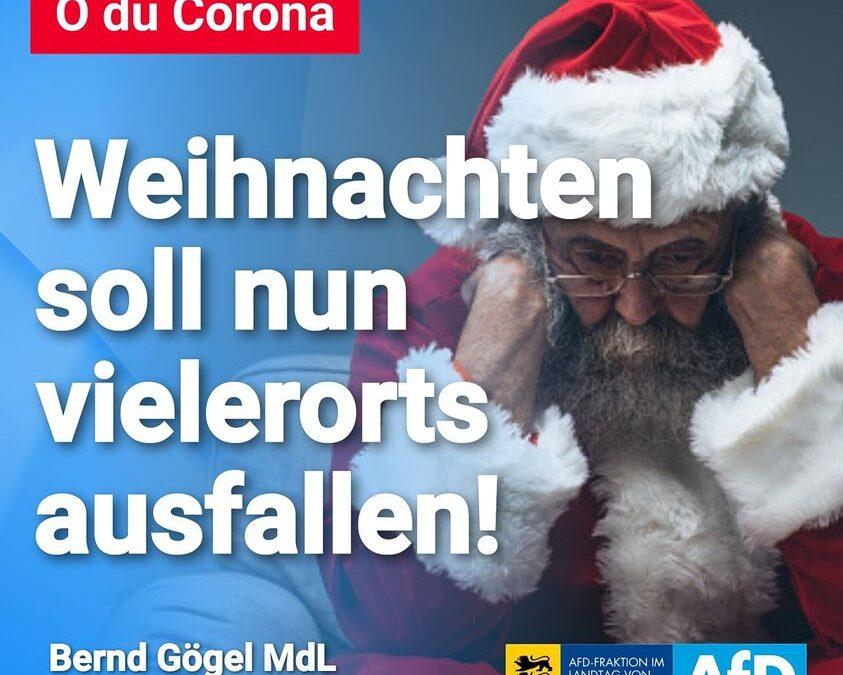 O du Corona – Weihnachten soll nun vielerorts ausfallen