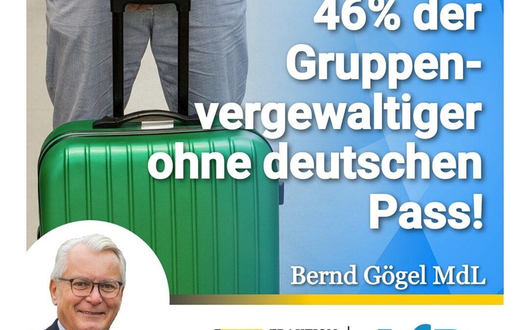 Lückenlos abschieben! – 46% der Gruppenvergewaltiger ohne deutschen Pass