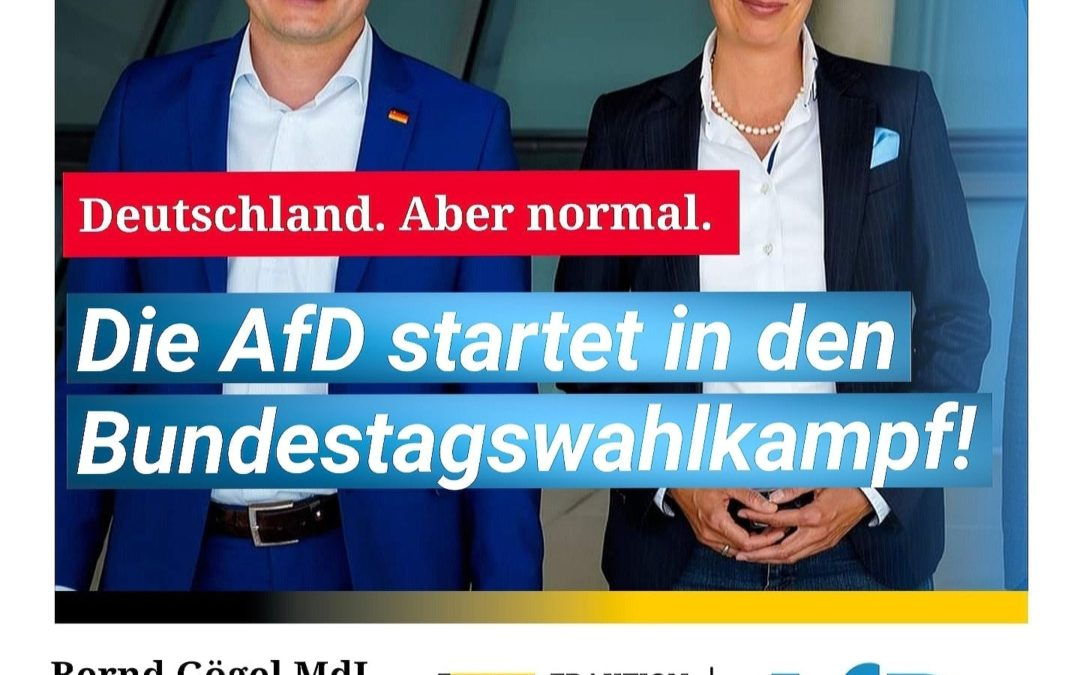 Deutschland. Aber normal. Die AfD startet in den Bundestagswahlkampf