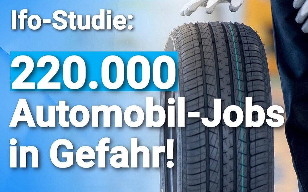 Grund: Erzwungene E-Mobilität – Ifo-Studie: 220.000 Automobil-Jobs in Gefahr