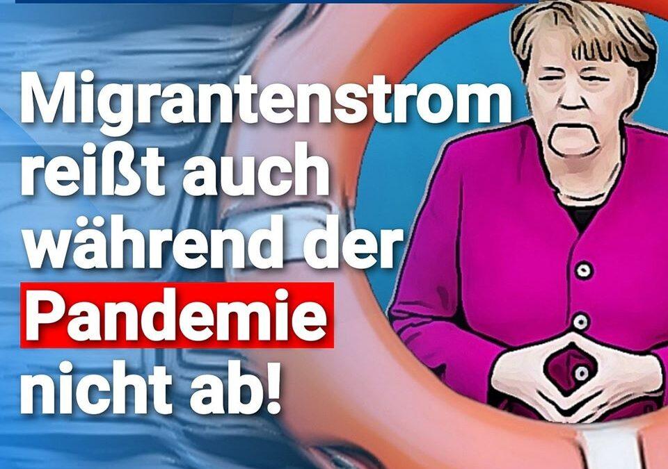 Merkels Willkommenspolitik – Migrantenstrom reißt auch während der Pandemie nicht ab